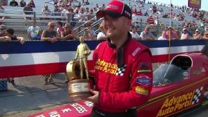 Chevrolet Performance U.S. Nationals Alcohol Dragster winner Josh Hart