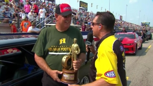 Chevrolet Performance U.S. Nationals Stock champ Larry Gilley