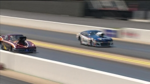 Chuck Little takes out the Champ Rickie Smith in round 1 of Pro Mod