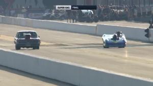 NHRA Carolina Nationals Super Gas winner Dean Mathauser