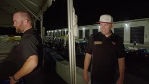 Richie Crampton Bumps Shawn Langdon's Kart at the GoPro Motorplex