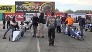 NHRA Jr. Dragsters at Lucas Oil Raceway at Indianapolis