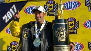 Eddie Krawiec is the 2017 Mello Yello Pro Stock Motorcycle World Champion