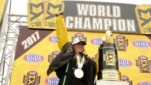 Brittany Force becomes just the second woman to win the NHRA Mello Yello Top Fuel World Championship