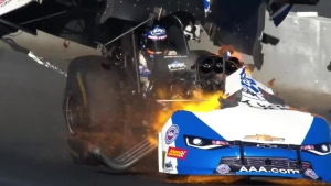 John Force suffers explosion at Winternationals