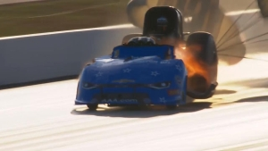 John Force suffers explosion during qualifying