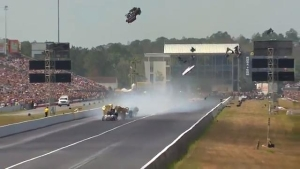 Matt Hagan and Robert Hight suffer side-by-side explosions
