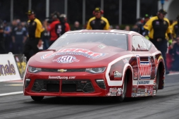 Greg Anderson resets the track record Friday in Houston and takes the No. 1 qualifying spot