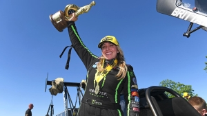 Brittany Force takes home the Wally in Houston