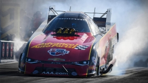 Courtney Force ran a 332.92mph pass on Friday to secure the No. 1 qualifier in Charlotte