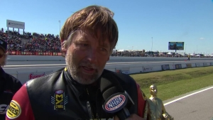2018 NHRA SpringNationals Top Fuel Harley winner Doug Vancil