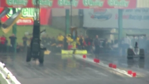 Steve Collier's blowover at the 2018 Menards NHRA Heartland Nationals in Topeka