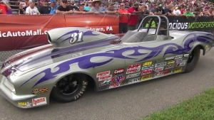 Mothers Best Appearing Cars: Devin Eisenhower's Super Comp dragster and Super Gas Camaro