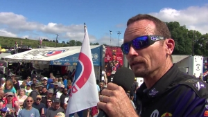 Funny Car driver Jack Beckman joined NHRA announcer Alan Reinhart for Nitro School