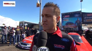 Bob Tasca III and Tony Pedregon discuss new Ford Mustang Funny Car body