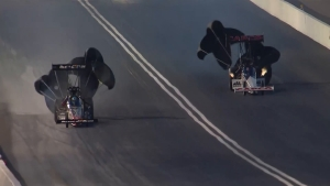 Clay Millican goes to No. 1 in Top Fuel at 2018 Fitzgerald USA NHRA Thunder Valley Nationals in Bristol