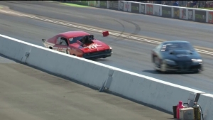 Doug Winters sends Pro Mod car into wall at 2018 Fitzgerald USA NHRA Thunder Valley Nationals