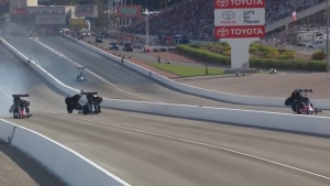 Mike Salinas tops the charts in Top Fuel in Las Vegas