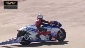 Hector Arana Jr. Wins Pro Stock Motorcycle at Las Vegas Four-Wide Nationals