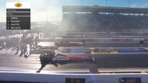 Mike Salinas scores first Top Fuel win at Las Vegas Four-Wide Nationals