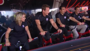The NHRA on Fox on-air personalities put their own spin on four-wide racing