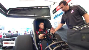 Bob Tasca III describes the starting procedure of a Funny Car