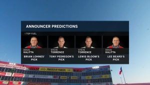NHRA broadcasters make their predictions in Houston