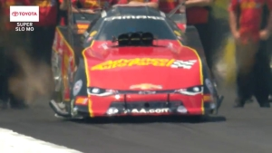 Courtney Force launch in Toyota Super Slo Mo