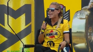 Leah Pritchett joins Alan Reinhart for pre-race interview at NGK Spark Plugs NHRA Four-Wide Nationals