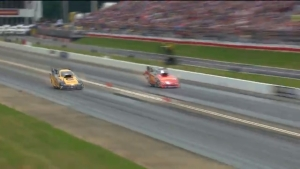 Funny Car fires up ahead of the NHRA New England Nationals