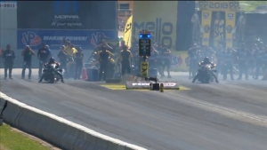 2018 NHRA New England Nationals Top Fuel Harley winner Doug Vancil