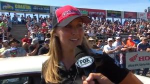 2018 NHRA New England Nationals Stock Eliminator winner Randi Lyn Shipp
