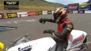 Hector Arana Jr. rides to Pro Stock Motorcycle win at 2018 Dodge Mile-High NHRA Nationals in Denver