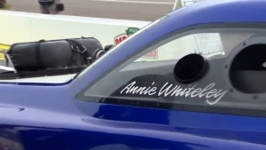 2018 Lucas Oil NHRA Nationals Top Alcohol Funny Car winner Annie Whiteley