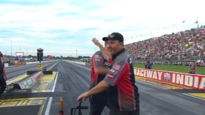 Eddie Krawiec surges to top spot in Pro Stock Motorcycle on Friday at 2018 Chevrolet Performance U.S. Nationals in Indianapolis