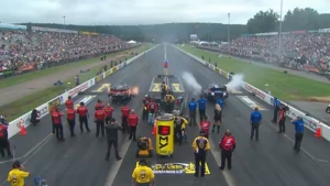 Courtney Force goes No. 1 in Funny Car at Dodge NHRA Nationals in Reading