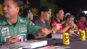 Behind the scenes of the Mello Yello autograph session at the 2018 AAA Texas NHRA FallNationals