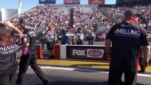 Matt Smith takes Pro Stock Motorcycle No. 1 at Auto Club NHRA Finals in Pomona